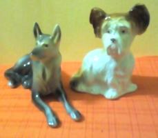 Jelzett porcelán kutya  2 darab