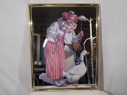 Kép - tükör kép - nagy 36 x 28 cm - hátulja - egy darabon megézott - a kép HIBÁTLAN