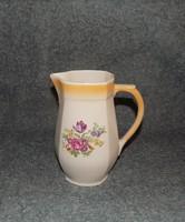 Régi Hollóházi porcelán virágcsokor mintás kancsó 1,5 liter (24/d)