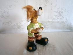 Nagyon aranyos, játékos kerámia kutya 16 cm magas