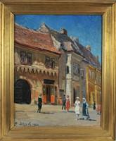 Edvi Illés Ödön (1877-1945): Felvidéki utcakép