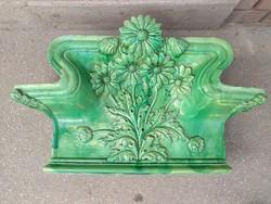 Cserépkályha korona zöld