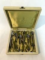 Magyar iparművész által készített bronz kiskanál készlet