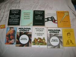 Moldova György könyv - tíz darab - 1971-1990