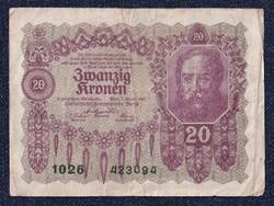 Osztrák 20 korona 1922/id 6552/