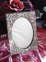 Régi ezüstözött patinás képkeret