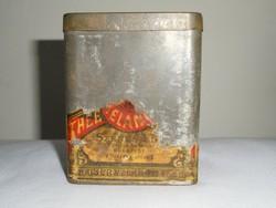 Antik fémdoboz pléh doboz - Császár Keverék Tea - Szenes Ede Cs. és Kir Udv. Szállitó - 1890-es évek