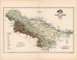Verőce megye térkép 1890 (2), vármegye, régi, atlasz, eredeti, Kogutowicz Manó, Gönczy Pál