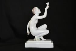 Herendi méregivó - porcelán akt szobor