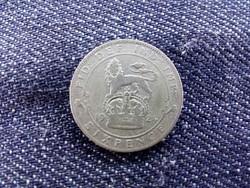 Anglia, ezüst (.500) 6 Pence 1924/id 9516/