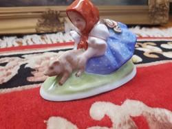 """Herendi porcelán """"Malaclopó lányka"""""""