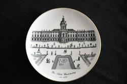 Emléktálka dísztál - falitál - Das Schloss Charlottenburg felirattal