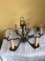 Neobarokk stílusú 6 ágú réz mennyezeti csillár