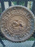 Mitológiai vadász jelenenes tömör bronz fali tányér!