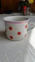 Régi Zsolnay NAGY piros pöttyös csupor,  bögre , régi csésze eladó!