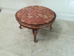Neobarokk márványlapos dohányzóasztal