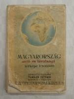 Turner István - Magyarország autó és távolsági térképe 1948