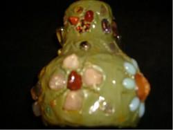 Iparművész Váza ,drága + féldrága + ásvány  Kövekkel Díszített ritkaság