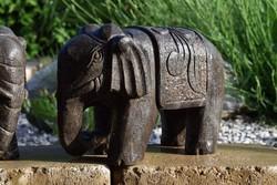Valódi kő, faragott elefánt Kínából!