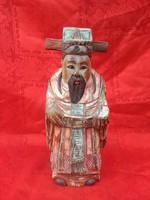 19 sz. antik Kínai fa szobor.