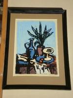 Gera Éva (1923-1996) : Gyümölcs és kardvirág