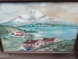 Vízfestmény alpesi kB 35 cm x 35 cm