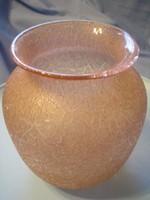 U7 Csodás korall színű art decó váza ritkaság  24 cm -es leárazva