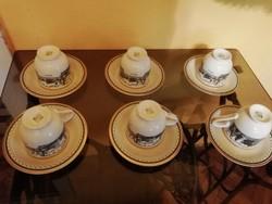 Különlegesen ritka porcelán teás készlet