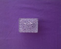 Szép csiszolt kristály bonbonier/gyűrű tartó