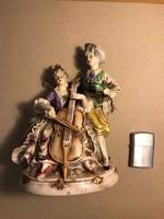 Német porcelán muzsikus páros