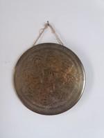 Keleti díszes réz gong