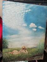 Nagy méretű festmény olaj vászon