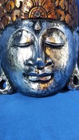 Faragott fa Buddha fali dísz