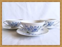Német Winterling porcelán leveses csésze szettek