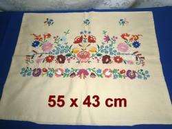 0b416e3326 Régi kézzel hímzett Kalocsai mintás párnahuzat, díszpárna huzat 55 x 43 cm  ...