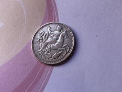1960 ezüst 20 drachma,Görögország 7,5 gramm 0,835