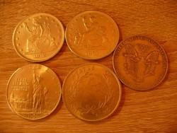 Amerikai pénz másolatok kirakatdisznek 5 db