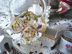 4 db-os üveg és porcelán csomag