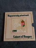 1999 évi Magyarország pénzérméi PP forgalmi sor disztokos 75 éves az MNB
