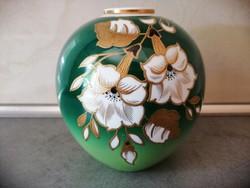 GDR német Goldrelief porcelán váza
