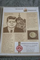 Amerikai emléklapos John F. Kennedy fél dollár