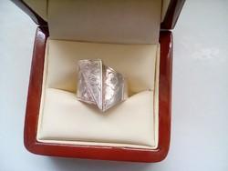 Szép cizellált ezüst gyűrű