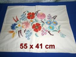 78f6f9670c Régi kézzel hímzett Kalocsai mintás párnahuzat, díszpárna huzat 55 x 41 cm  ...
