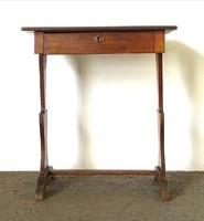 0X204 Antik biedermeier varróasztal lerakó asztal