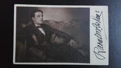Raoul Aslan - eredeti, dedikált képeslap , Bécs, 1920-as évek