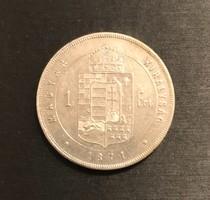 Ferenc József 1871 K-B 1 ezüst Forint