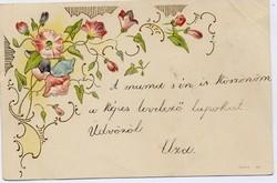 Virágos népnapot! dombornyomású lap, 1900. okt.
