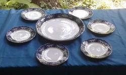 6 személyes Zsolnay porcelán Pompadour II. süteményes készlet ÚJSZERŰ!