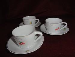 Hollóházi porcelán, kávés pohár kis virágos.