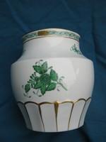 Régi, nagyméretű, herendi porcelán Apponyi mintás öblös váza